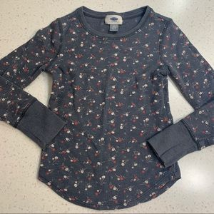 5/$20 Old Navy floral long sleeve thermal top